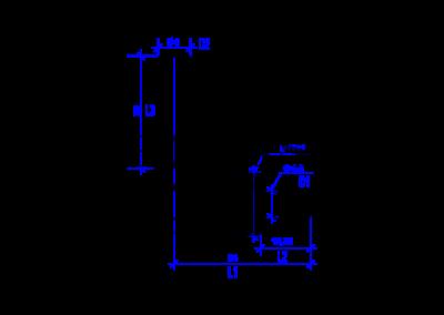 Dessin technique d'un 8 mm DREHMEISTER  coude 90°  Raccord pour tuyau thermoplastique de 8mm
