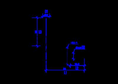 Dessin technique d'un 6 mm DREHMEISTER coude raccord  pour un tuyau thermoplastique de 6mm