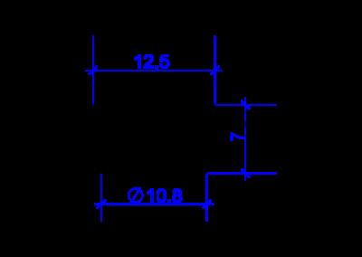 Dessin technique d'une bague coupante DREHMEISTER pour un tuyau thermoplastique de 6mm