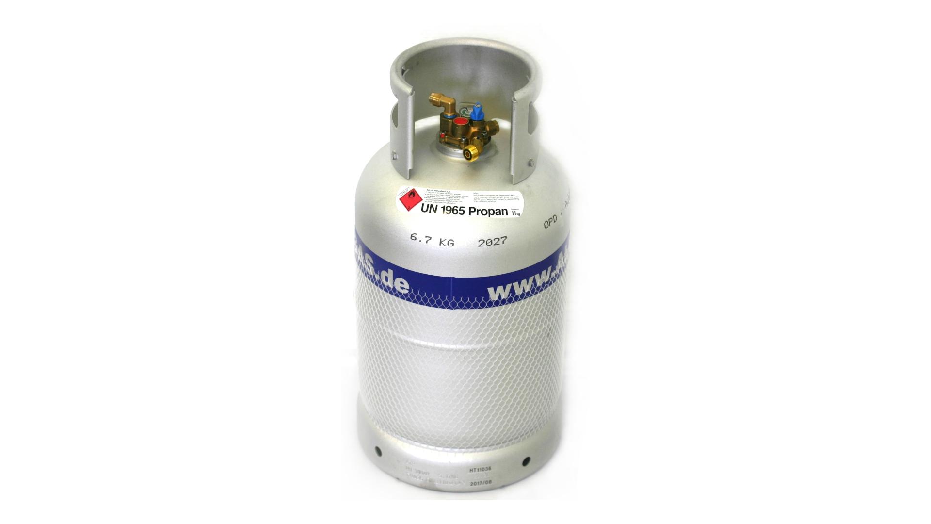ALUGAS Travel Mate Tankflasche 27 Liter mit 80% Multiventil