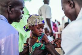 Vaccination antirougeoleuse de MSF Response (district Am Timan)